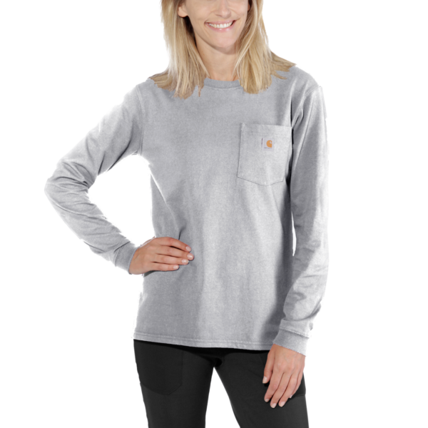 WK126 WORKW POCKET L/S T-SHIRT