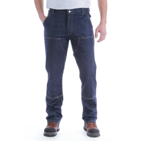 DOUBLE FRONT DUNGAREE JEANS
