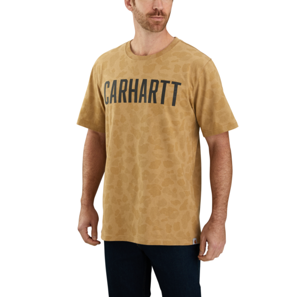 CARHARTT WORKWEAR CAMO BLOCK LOGO S/S T-SHIRT