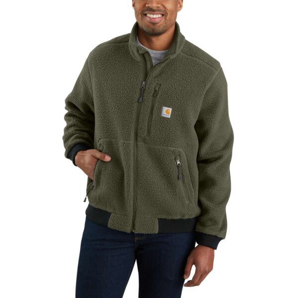 RELAXED FIT FLEECE JACKET