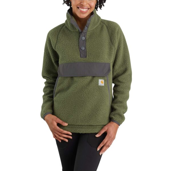 RELAXED FIT FLEECE PULLOVER